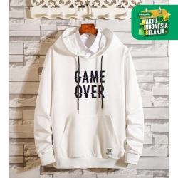 FortKlass OVER Sweater Hoodie Unisex Lengan Panjang Pria Wanita - Putih