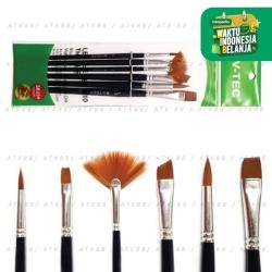 V-Tec Brush A0107 Set 6 / Kuas Lukis Set isi 6 / VTEC Artist Brush