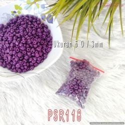 Mote Manik Beads Bead Pasir Kaca 6 O Ungu Tua (Per Bungkus) PSR118 C9a