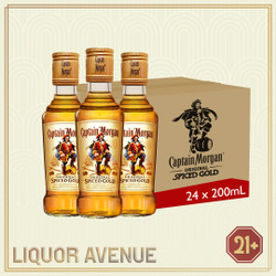 Captain Morgan Spiced Rum Gold 200ml (1 karton isi 24 botol)