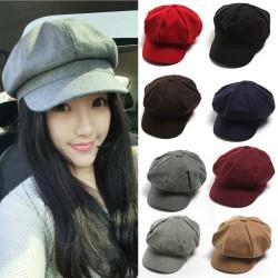 topi pet topipet Newsboy Bakerboy cap hat fedora polos warna Premium