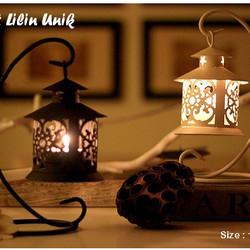 Tempat Lilin Model Gantung, 1 set dengan gantungan
