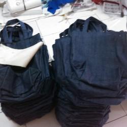Denim Tote Bag [Tas Jeans Polos] - 30x36cm