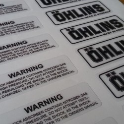 Sticker Tabung Shock Ohlins (Original Look alike)