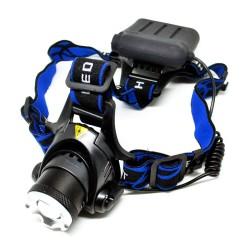 PAKET High Power Headlamp LED Cree Biru Baterai 2 x 18650 + Charger