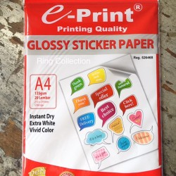 Kertas Stiker Glossy A4