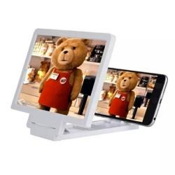 3D Enlarged Screen Mobile Smart Phone Kaca Pembesar Layar Handphone HP - Hitam