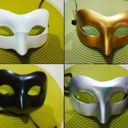 topeng carnival/ masquerede untuk pesta topeng pria half face