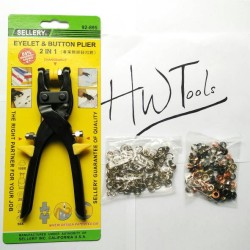 EYELET & BUTTON PLIER 2 IN 1 / TANG MATA AYAM & KANCING SELLERY