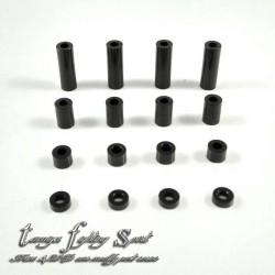 Rep Tamiya 15473 Aluminum Spacer Set 1.5/3/6/12mm -16pcs BK (SA801)