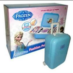 Mainan Make Up Frozen Trolley Koper