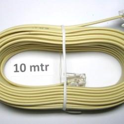Kabel LINE Telpon 10 m + Jack RJ 11/ Telepon Telfon Cable 10m+Jek RJ11