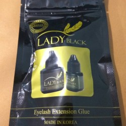 lady black glue 10 ml / lem lady black termurah/ lem sambung bulu mata