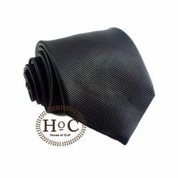 Houseofcuff Dasi NeckTie Slim Polos Wedding Best Man BLACK TIE 2 - Hitam, 3 inch