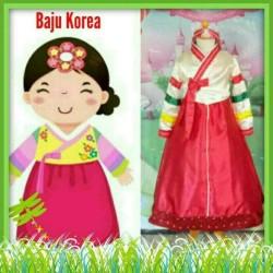 Kostum Hanbok Korea Anak Perempuan Import Size Besar 8-12 Tahun