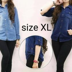 Kemeja Jeans XL - Biru