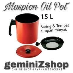 Maspion Oil Pot 1.5L Saringan & Tempat Simpan Minyak