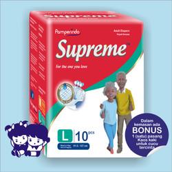 Popok Dewasa SUPREME size L isi 10 pcs ( Adult_Diapers )