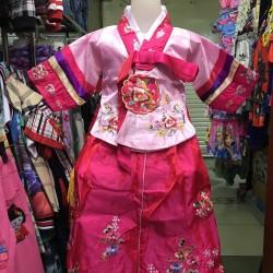 Dress Hanbok Anak Perempuan Cewek Pink Impor