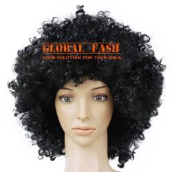 Wig hitam/ wig kribo/ Wig Badut / Wig Cosplay/ Rambut Palsu full