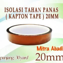Isolasi Tahan Panas Kapton Tape 27 meter x 20 mm