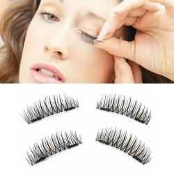 3D False Double Magnetic Eyelashes / Bulu Mata Palsu Magnet
