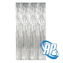 backdrop foil silver / tirai foil / foil fringe curtain / tirai rumbai