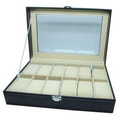 Kotak Tempat Jam Tangan Luxury Watch Box 12 Slot