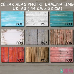 Alas Photo Foto Produk A3 Laminating Murah Wood Kayu vintage