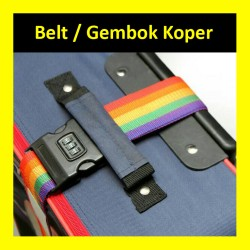 Belt Koper Gembok Tali Pengikat Luggage Strap Kunci Pengaman 3 Digit