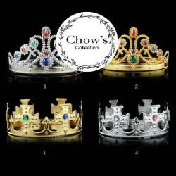 Mahkota Pesta Raja / Ratu, Crown Party King / Queen ( Gold & Silver )
