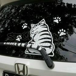 Stiker Wiper Mobil Kucing Goyang Ekor Car Decal Sticker Cat Tail Tebal