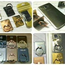 iring chrome besi emas / ring stand branded