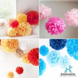 Dekorasi Pesta Tissue Paper Pom Poms Flower Ball Size 30cm