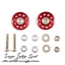 Rep Tamiya 95048 HG Roller 10 holes Bearing 13mm Red (RD1313)