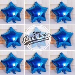 Balon bintang mini biru / Balon star biru / balon foil star mini