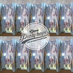 tirai foil silver / backdrop silver / foil fringe curtain/ background