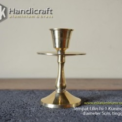 Tempat Lilin Polos M Kuningan Gold - Candle Holder
