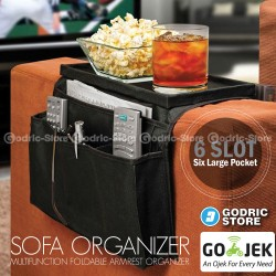Sofa Organizer Multifungsi Tempat Storage Remote TV, Minuman & Makanan