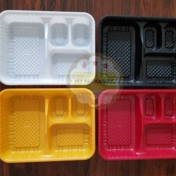 Tray Bento / Bento Box (sekat 4) + Tutup
