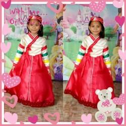 baju kostum tradisional adat korea/baju hanbok anak