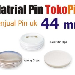 bahan pin ukuran 44 putih