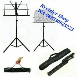 Stand book / music stand / musik stand lipat / dudukan buku