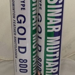 Shuttlecock cock Badminton - Sinar mutiara 800 gold