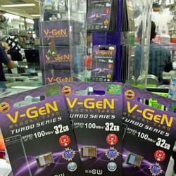 V-gen Micro SD Vgen 32GB Class 10 TURBO SERIES Memory Card ORIGINAL