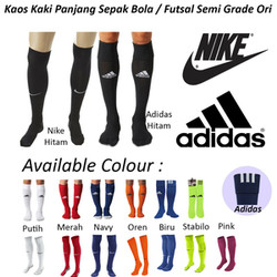 kaos kaki futsal,bola ,nike ,adidas panjang