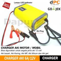Charger Aki Portable 6A/12V Mobil | Motor