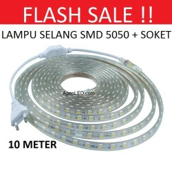 Lampu LED STRIP SELANG SMD 5050 10M 220v 10 M METER OUTDOOR DEKORASI