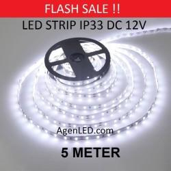 Lampu LED STRIP 3528 SMD 2835 IP33 IP 33 White indoor ledstrip PUTIH