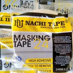 Nachi Masking Tape 24MM Lakban Kertas Selotip Isolasi Plakban